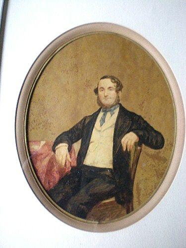 Fabulous Antique Original Portrait Painting