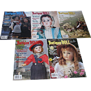 Large Lot of Antique Doll Collector Magazines!