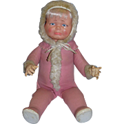 """Ideal 1968 22"""" Little Lost Baby with rotating 3 faces to include smiling, sleeping and crying."""