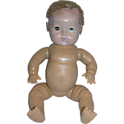 """Vintage 1930's Effanbee 15"""" Dy-Dee Baby Marked Nude and needing TLC!"""
