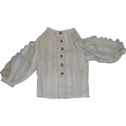 Factory Vintage Doll patterned Blouse with pink burgundy rhinestone buttons for your vintage doll!