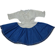 1953 American Character Original Sweet Sue Blue and White Cotton Dress!