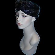 Women's Vintage 1950's Sears Fashion Millinery Lightweight Basketweave Hat!