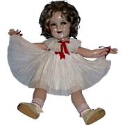 "1930's Ideal 25"" Flirty Eyed Shirley Temple Composition Doll All Original!"