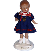 "Tonner 9"" Patsyette Sailor in Original Outfit with heart necklace and original stand!"