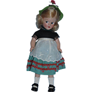 "RARE 1930's Madame Alexander 9"" Wendy-Ann Tagged Swiss Composition Doll Never Played With!"