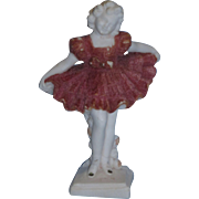 """1934 Ideal Shirley Temple """"Baby Take a Bow"""" Flocked Salt Figure!"""