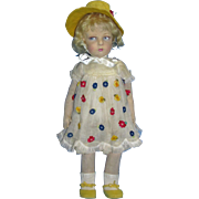 "Antique 22"" Cloth Lenci 109 Series Doll in Original Outfit!"