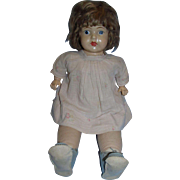 "Vintage 1923 Averill 22"" Mama Doll with Composition Head and Cloth and Composition Body!"