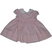 Vintage 1960's Mattel Chatty Cathy Tagged Pink Peppermint Dress!