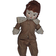 "Vintage 1930's Mollye 12"" Cloth Pilgrim in Original Outfit!"