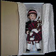 Danbury Mint Porcelain Doll Ian by Karen Scott Mint in Box with Stand!