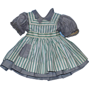 """1950's Ideal Harriet Hubbard Ayer Green Stripe Pinafore Outfit for the 18"""" P92 size doll!"""