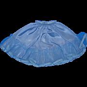 Vintage Blue Taffeta Tulle Ruffled Half Slip for your Larger Revlon Doll!