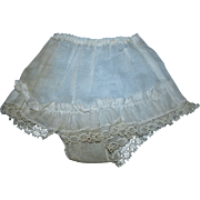 Vintage 1950's Factory Organdy Ruffled Panty with Exquisite Lace Trim Crisp on Original Hanger and Never Used!