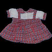 "1930's Effanbee Patsy Joan Original Jumper Dress for the 17"" Doll!"