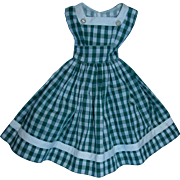 Factory Mint Green and White Checked DRESS for Madame Alexander Cissy!