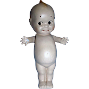 "Large Heavy marked Nippon 10 3/4"" Painted Bisque Kewpie with wings and with defect"