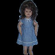 "Antique 15"" Schoenhut Doll with original Jan. 17th 1911 label on upper back"