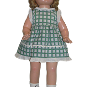Darling 1930's Factory Green and White Checked DRESS for Patsy Ann!