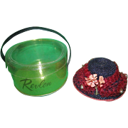 RARE and Fancy Ideal Little Miss Revlon Horsehair Hat with Tulle and Dried Flowers MIB!