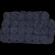 Vintage 1939-1940s Black Crochet Corde Clutch Handbag Purse!
