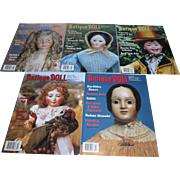 5 Antique Doll Collector Magazines to include 2002 and 2003