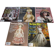 5 Antique Doll Collector Magazines from 2008