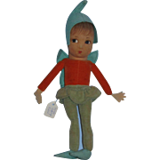 """Vintage 1940's Norah Wellings 9 1/2"""" PIXIE Doll Made in England!"""