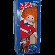 "Vintage 1982 Knickerbocker 16"" Annie Doll with Removable Sandy in Original Box!"