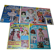 Large Lot of Old Doll Collector's Price Guides and Doll Designs Magazines
