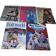 Large Lot of Old Doll World and Doll Values Quarterly Magazines