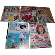 Large Lot of Old Doll World and Doll Collector's Price Guide Magazines!