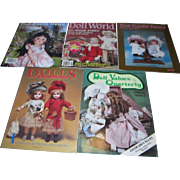 Large Lot of Old Doll World, Dolls, Doll Castle News and Doll Values Quarterly!