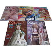 Large Lot of 5 Older Doll Reader Magazines 1998 1999 2001 2004