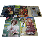 Large Lot of Dolls, Contemporary Doll Collector and Doll Castle News Magazines
