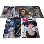 Large Lot of Doll Readers, Contemporary Doll Collector and Doll Crafter Magazines