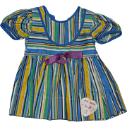 "1950's Factory Tagged Mae-Marie Striped Dress for 16-17"" Girl Doll!"