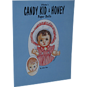 Vintage 1997 Effanbee's Candy Kid & Honey Paper Dolls by John Axe Uncut!
