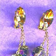 Lewis Segal Dangling Rainbow Colored LONG Earrings