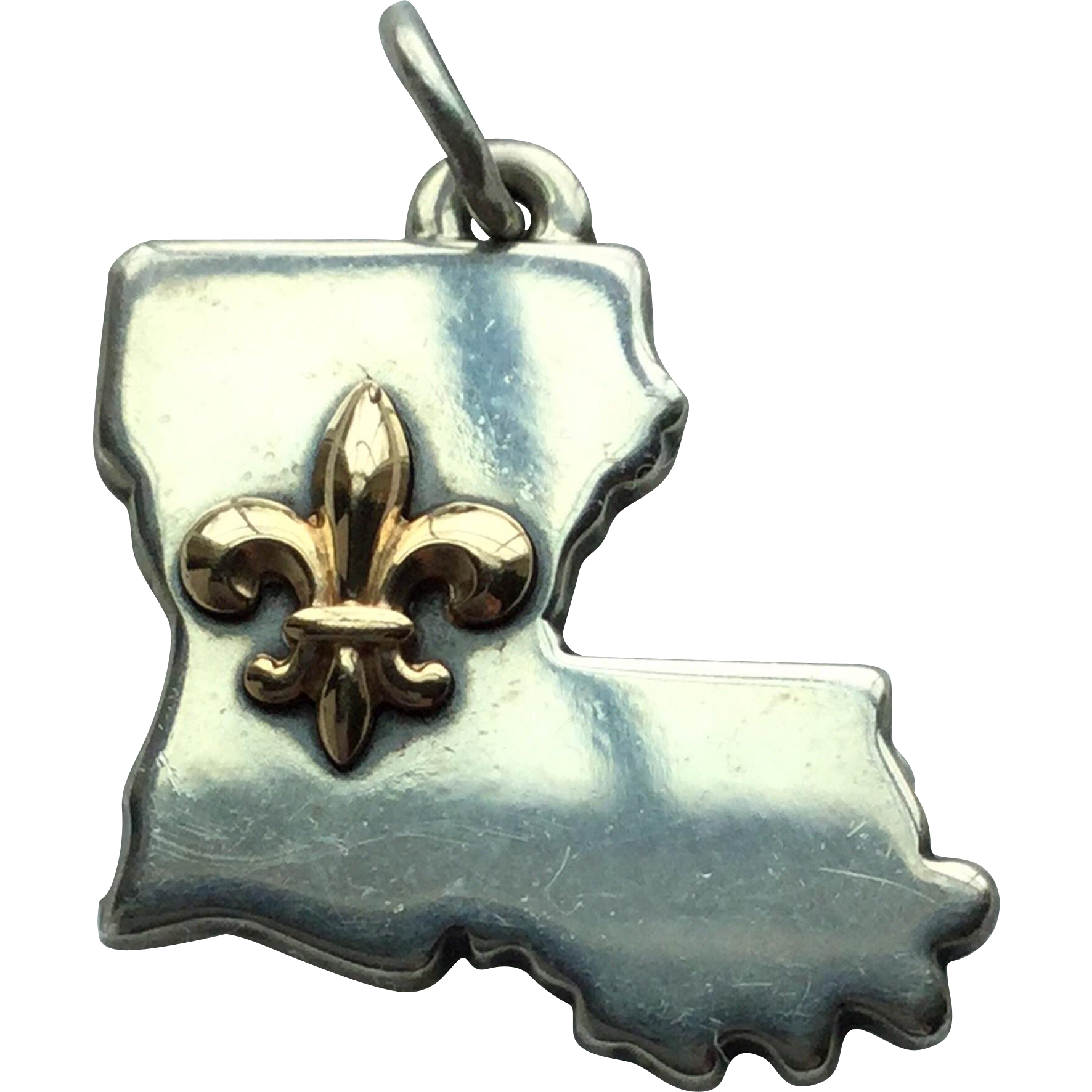Vintage James Avery Sterling Silver Louisiana Charm