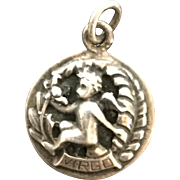 Vintage Cini Sterling Virgo Charm or Pendant Zodiac
