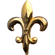Vintage Gold-Filled Fleur de Lis Watch Pin Brooch