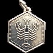 Vintage Scorpio Zodiac Sterling Silver Charm Pendant by David Andersen
