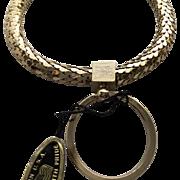 Vintage Whiting and Davis Gold Mesh Bracelet Key Chain