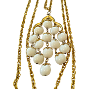 Vintage Trifari Waterfall Cream White Iconic Necklace