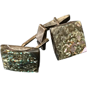 Vintage Sterling and Abalone Cufflinks