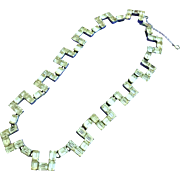 Vintage Eisenberg Choker Necklace with Clear Rhinestones on Rhodium