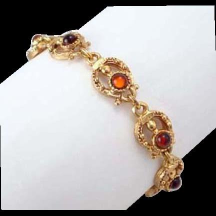 Florenza Topaz Glass Cabochon Bracelet