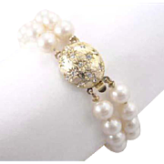 Perisana by Laguna Imitation Double Strand Glass Pearl Bracelet